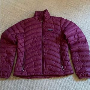 Patagonia polyester and goose down jacket.